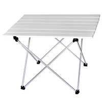 Mesa de Camping portátil de aluminio al aire libre mesa plegable BBQ mesa de Camping mesa de Picnic mesas plegables Escritorio de Color caramelo talla L