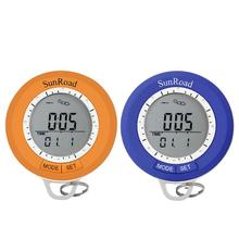Buy online Mini LCD Digital Pedometer Altimeter Barometer Compass Thermometer Carabiner Outdoor sport fitness running