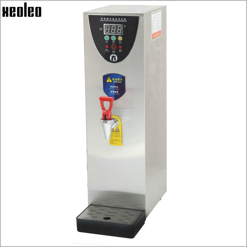 Xeoleo 10L Hot Water dispenser Commercial Hot Water machine 35L/H Stainless steel Water boiler for bubble tea shop 2500W все цены