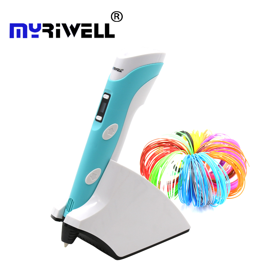 Myriwell RP-200B wireless charging low temperature 3D pen using PCL / PLA filament 3D printing pen is the best gift for children