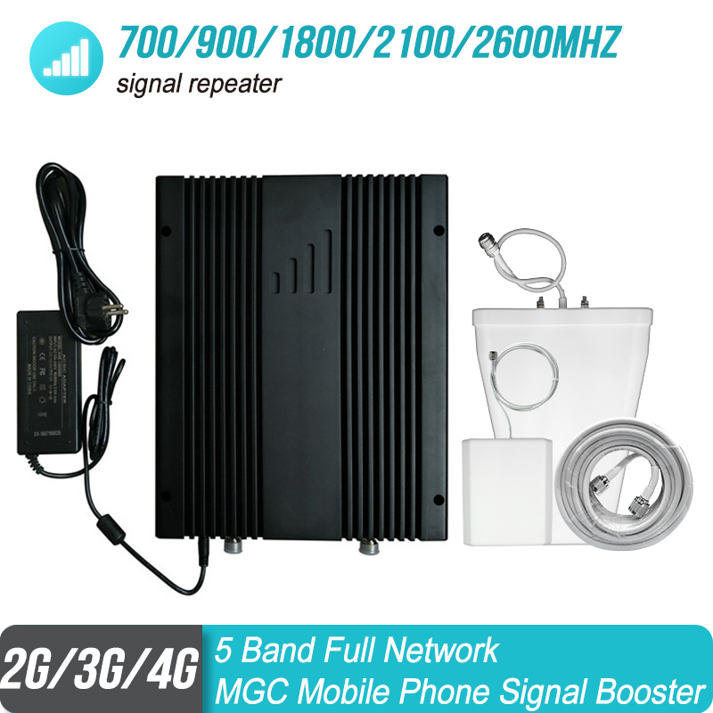Full Network Powerful 700/900/1800/2100/2600mhz 5 Band Mobile Phone Signal Repeater B28/B8/B3/B1/B7 Signal Booster Amplifier#18
