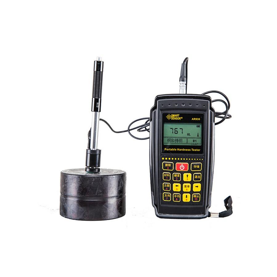1 set AR936 Portable Leeb Hardness Tester (170~960)HLD,(17~68)HRC,(19~651)HB,(80~976)HV (30~100)HS,(59~85)HRA