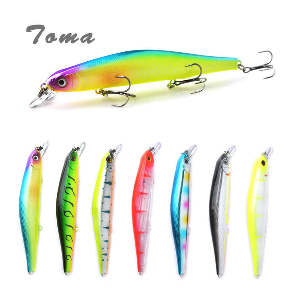 TOMA 1PCS Minnow Fishing Lures Wobblers Suspend 17g 110mm Artificial Hard Bait Crankbait With 3 Hooks Perch Sea Bass Lure