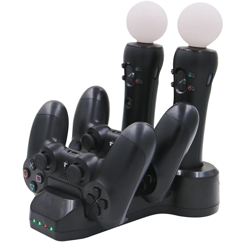 Contrôleur de mouvement PS VR/contrôleur PS4 Charge Dock + indication de charge de LED pour contrôleur PlayStation VR PlayStation 4