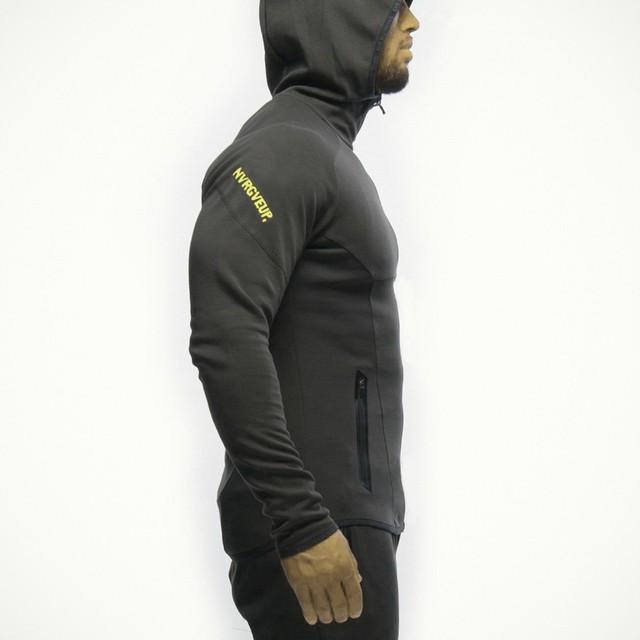 Hot Sale Autumn Coat Bodybuilding Fitness Tracksuit Hoodies Pullover Jacket Slim Fit Sweatshirts Muscle Men Sportswear
