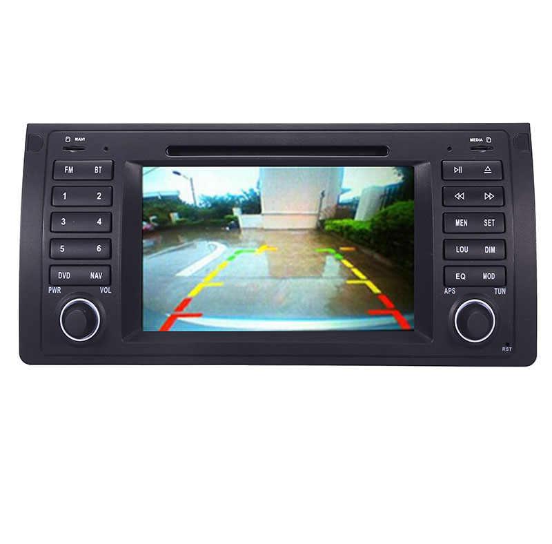 """Исходный пользовательский интерфейс 7 """"автомобильный DVD gps для BMW E39 X5 E53 с gps Bluetooth Radio RDS/USB/SD/рулевое управление Бесплатная Камера"""