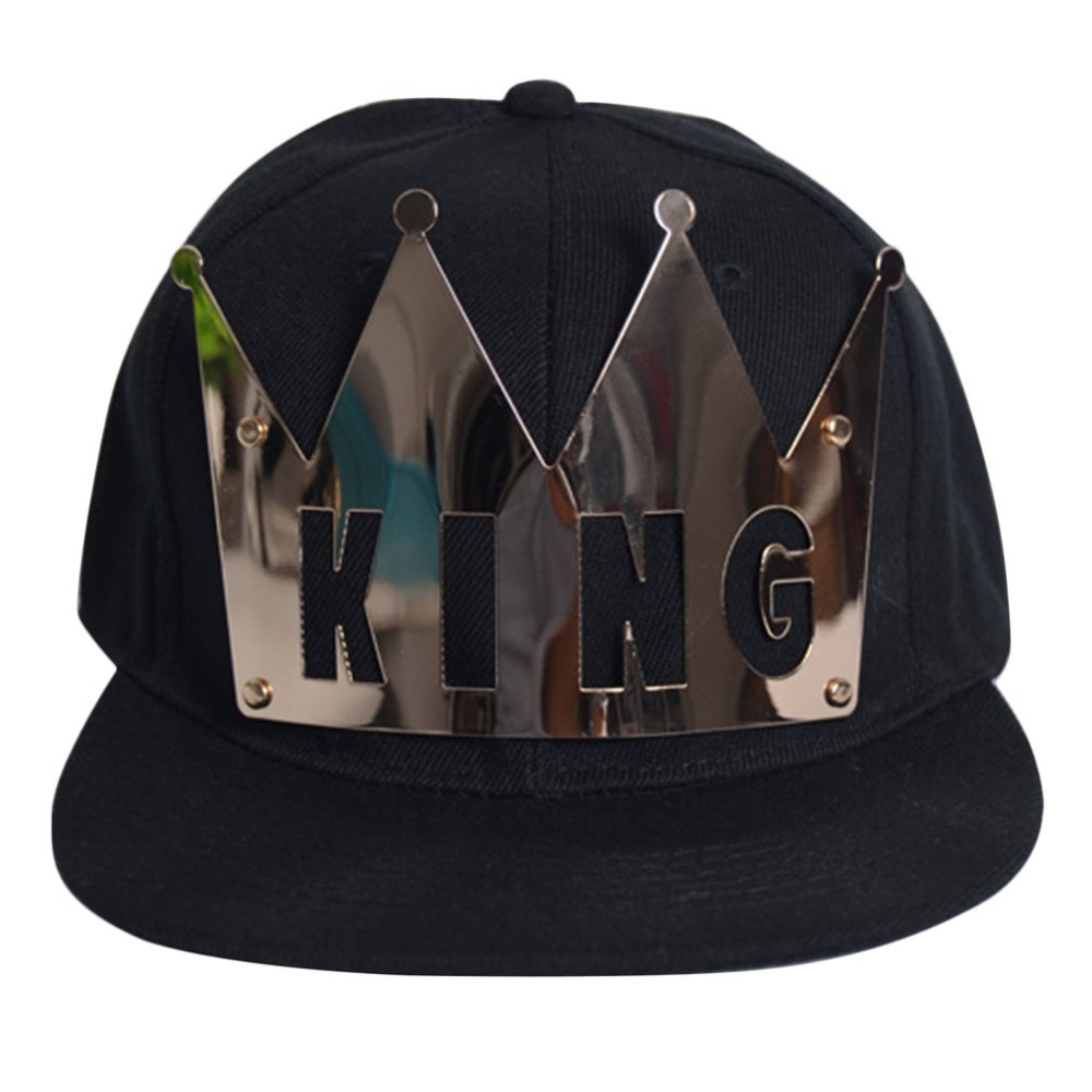 Bling Bling 2018 Street Fashion Plate Rivets Crown King Queen hip hop Caps Men Women Gorras Bone Baseball Hats Couple Snapback new 2017 hats for women mix color cotton unisex men winter women fashion hip hop knitted warm hat female beanies cap6a03