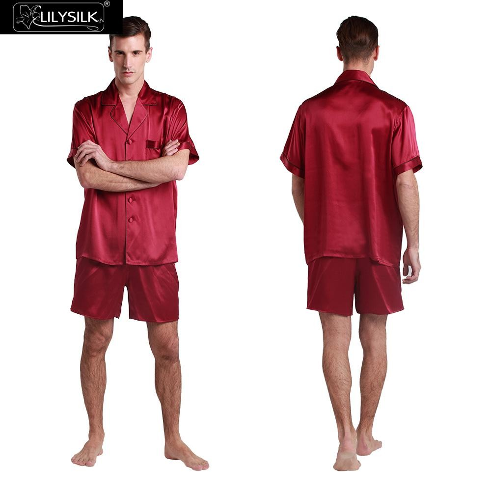 1000-claret-22-momme-contrast-trim-short-silk-pyjamas-set