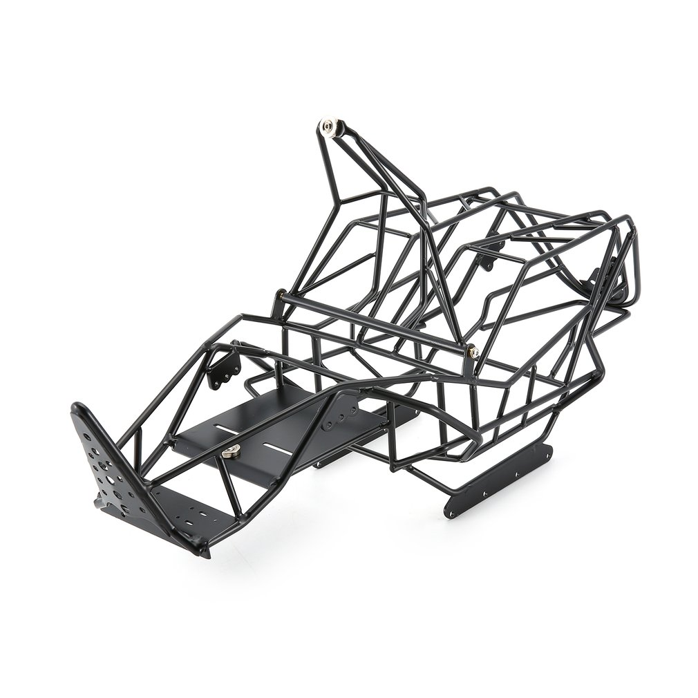 1/10 Scale RC Metal Frame Roll Cage with Inner Parts Rock Crawler Body Black Chassis Climbing Truck Parts SCX10