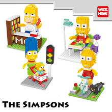 WiseHawk Simpsons Family Western Anime Action Figures Minifigure Building Brick Classic Toys Christmas Gift For Children