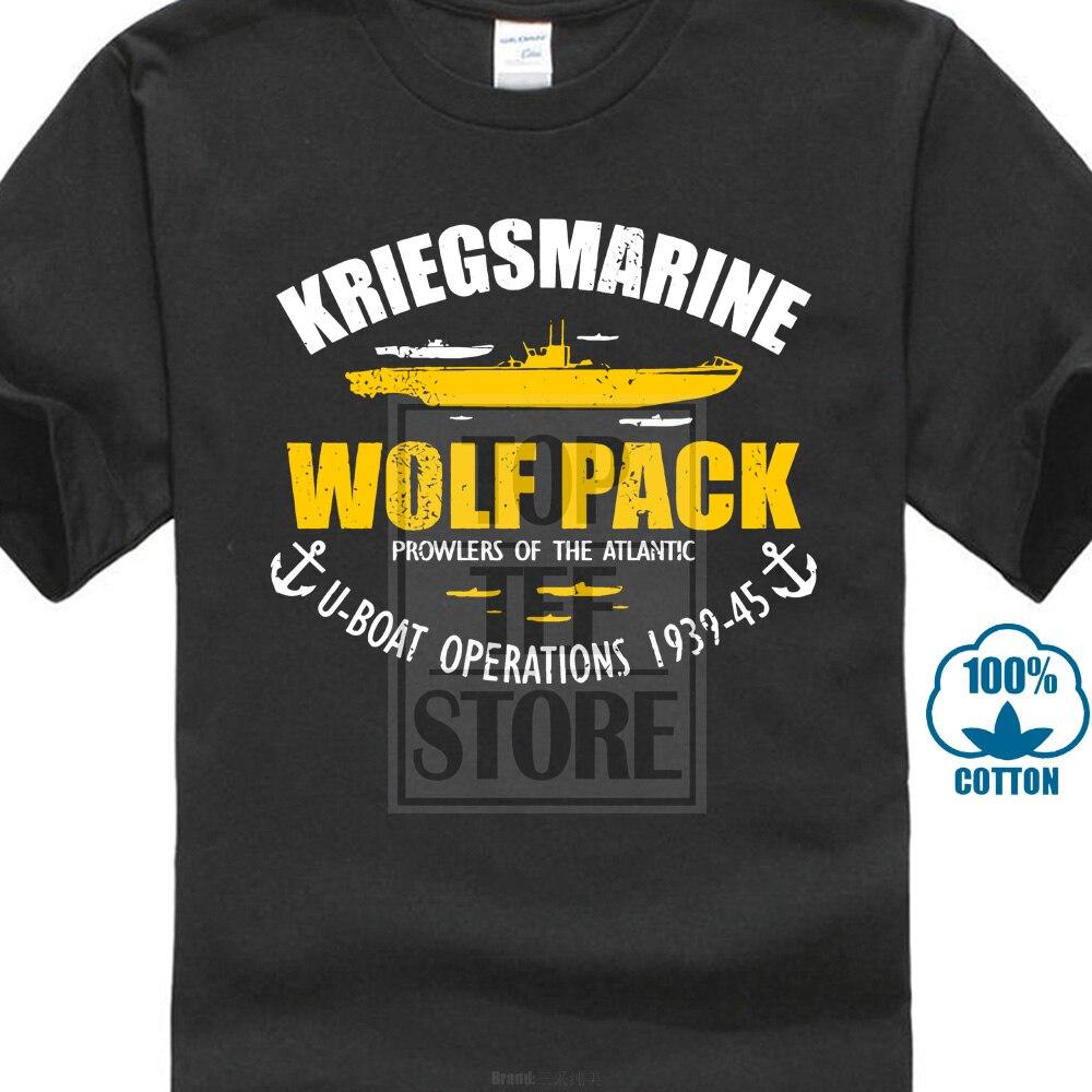 German U-boats Military T Shirt Blueprint Design Submarines of World War II