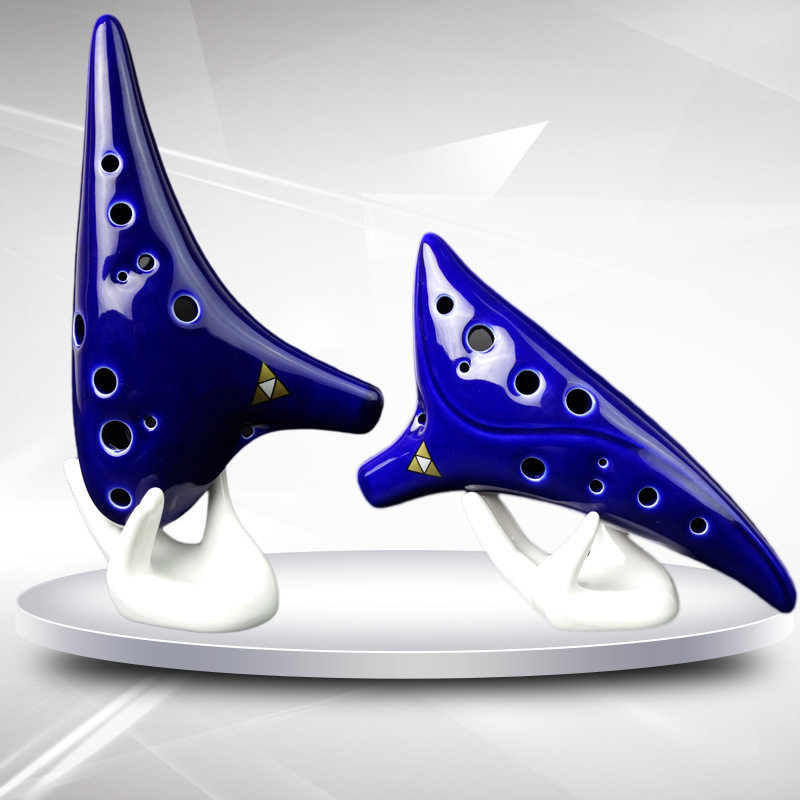 Ocarina Musical Instrument Student Dedicated 12 Hole Flute Piccolo Blue