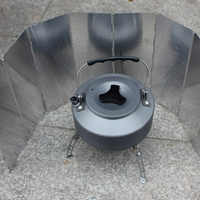 10 Plates Foldable Camping Picnic Cooker Stove Wind Screen Windshield Outdoor Stove Accessories
