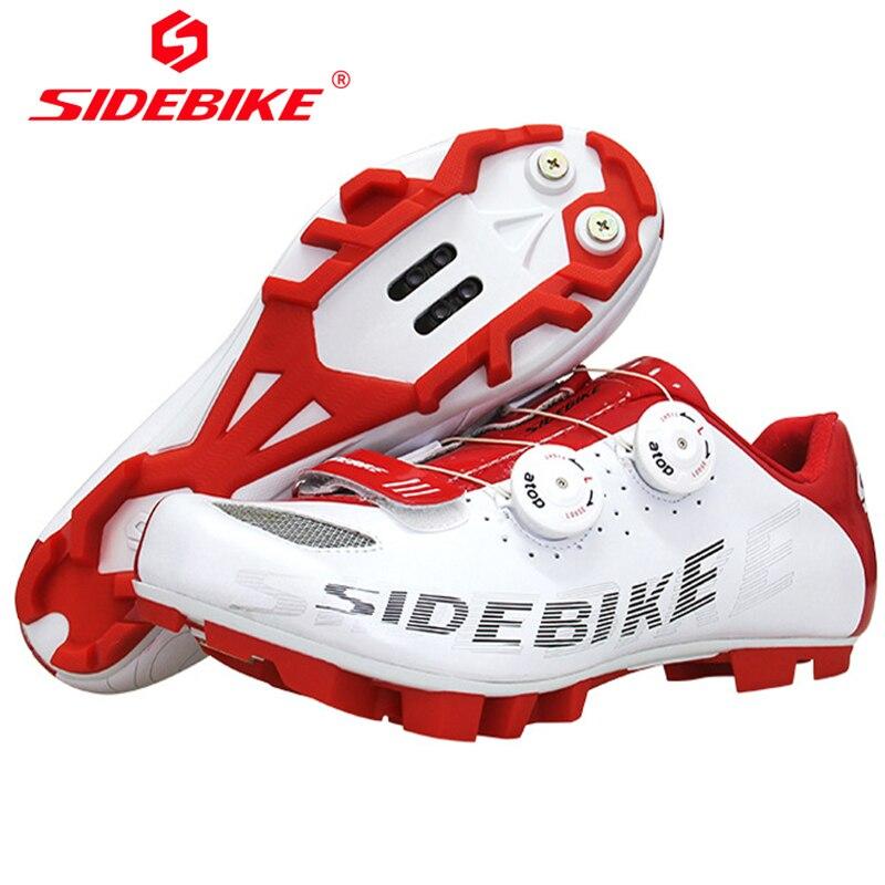 SIDEBIKE Ultraligero Bike MTB Scarpe Da Ciclismo Uomini Bici Bianco Zapatillas Deportivas Hombre Traspirante Zapatos Ciclismo Sapatilha