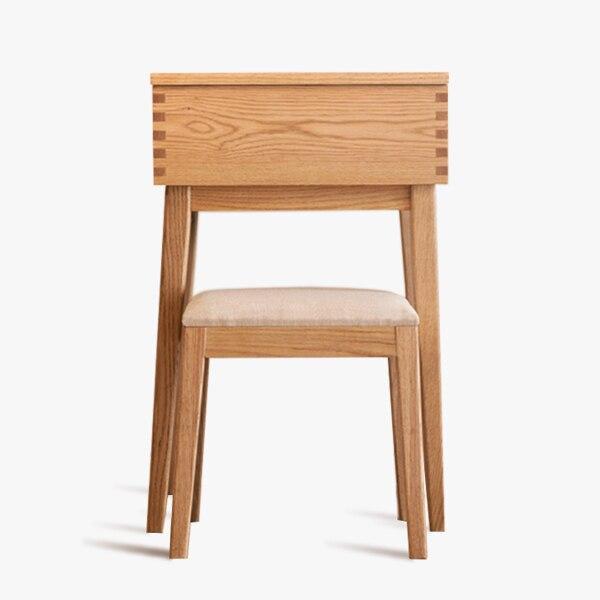 [where the house furniture / warm dresser] original oak wood flip black  walnut dressing