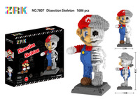 Special Mario Mini Blocks DIY Assembly Cartoon Model Brick Toys For Children Hallowmas GiftsEducational Toy Skeleton