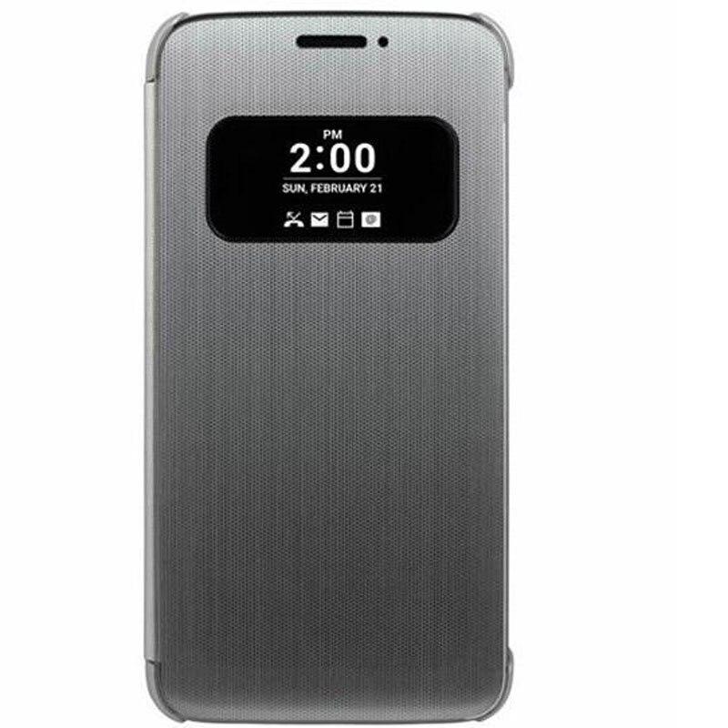 Flip case cubierta del teléfono para lg g5 rápida ventana de visualización smart