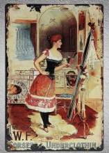 1 pc Corset Underclothing Women Wear Lady beauty shop store Tin Plate Sign plaques Man cave vintage Shop store metal poster shop wear
