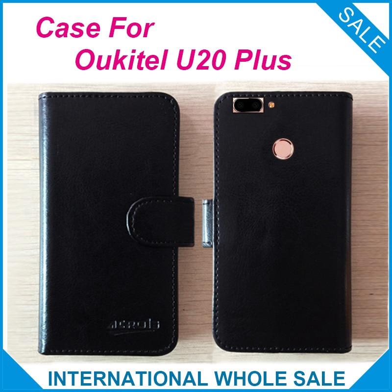 Horký! Pouzdro Oukitel U20 Plus, 6 barev Vyhrazená kůže Exkluzivní speciální kryt telefonu Crazy Horse Pouzdra + Sledování