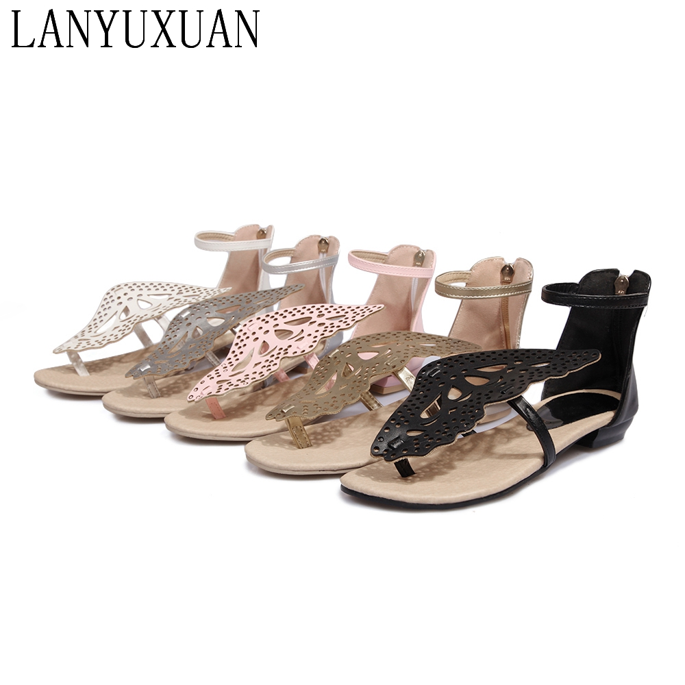 2017 Mujer Ladies shoes fashion casual Plus big Size 30-48 Women Sandals Sapato Summer Style Chaussure Femme Flat shoes A-211 new 2017 spring summer women shoes pointed toe high quality brand fashion womens flats ladies plus size 41 sweet flock t179