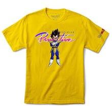 fd8e2a650 Primitive x Dragon Ball Z Men's Nuevo Vegeta T Shirt Yellow Tee Clothing  Apparel Cartoon t