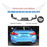 3 шт. углеродного волокна/FRP неокрашенное заднее крыло бампер спойлер для BMW F80 M3 4 двери F82 M4 2 двери 2014 2018