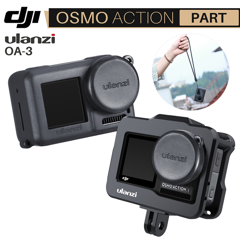 Ulanzi OA-3 Vlog Soft Protective Case With Camera Lens Cap For Dji Osmo Action Silicone Droproof Vlogging Case Cage Kit
