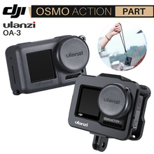 Ulanzi OA 3 Vlog Soft Protective Case with Camera Lens Cap for Dji Osmo Action Silicone Droproof Vlogging Case Cage Kit