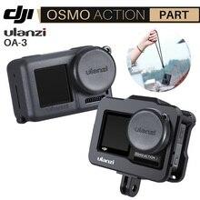 Ulanzi OA 3 Vlog yumuşak koruyucu kılıf ile kamera Lens kapağı için Dji Osmo aksiyon silikon Droproof Vlog kılıf kafes kiti