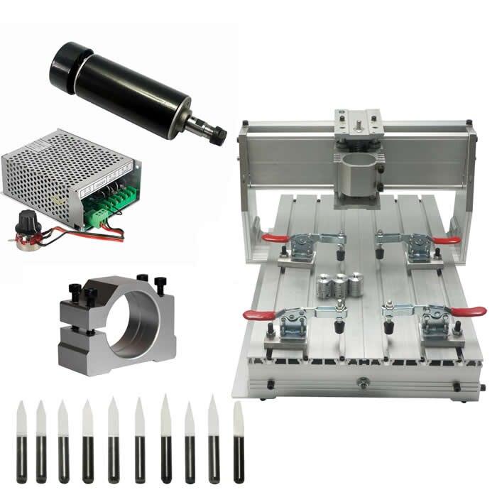 CNC machine de gravure cadre 3040 aluminium kit 500 W broche refroidie par Air ER11 pinces forets