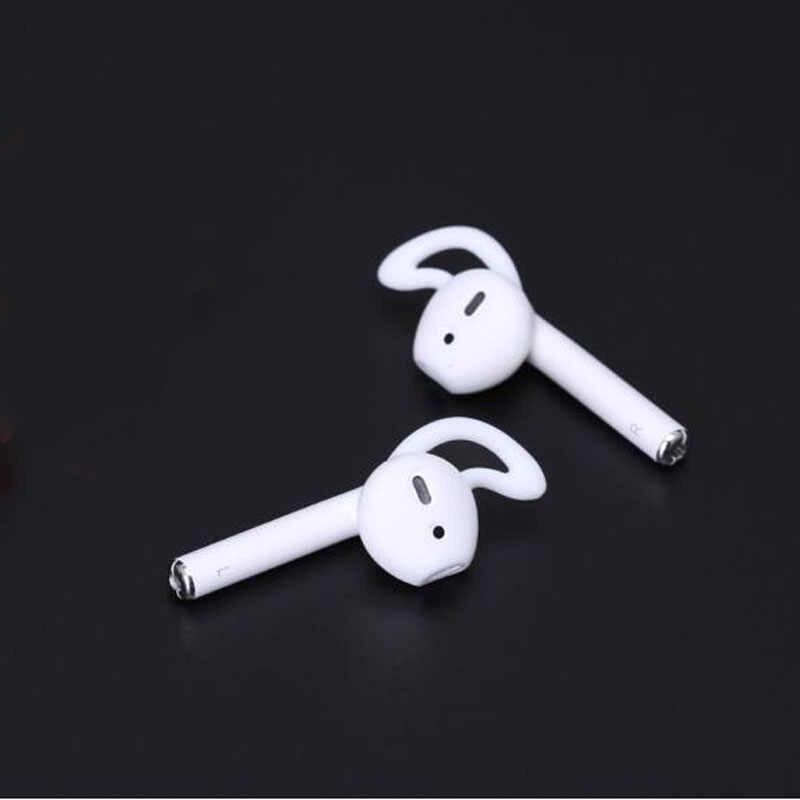 For Apple iPhone X 8 7 6 Plus TWS Airpods Earpods Eartip Ear Wings Hook Cap Earhook Silicone Cover Earbuds Earphone Case