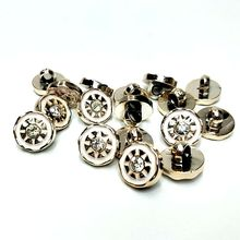 HL 30/50/150PCS 11MM New Plating Buttons With Rhinestones Shank DIY Apparel Sewing Accessories Shirt
