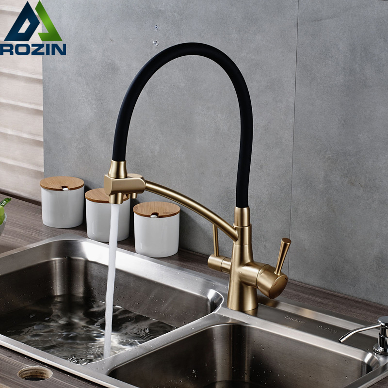 Bathroom Kitchen Purification Faucet Deck Mounted 360 Degree Rotation Mixer Tap Drinking Water Tap for Kitchen Deck Mounted