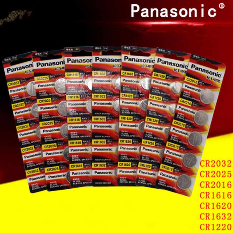 35 шт. оригинальный Panasonic cr2032 cr 2025 cr2016 cr1220 cr1616 cr1620 cr1632 3 в батарейки для часов компьютера