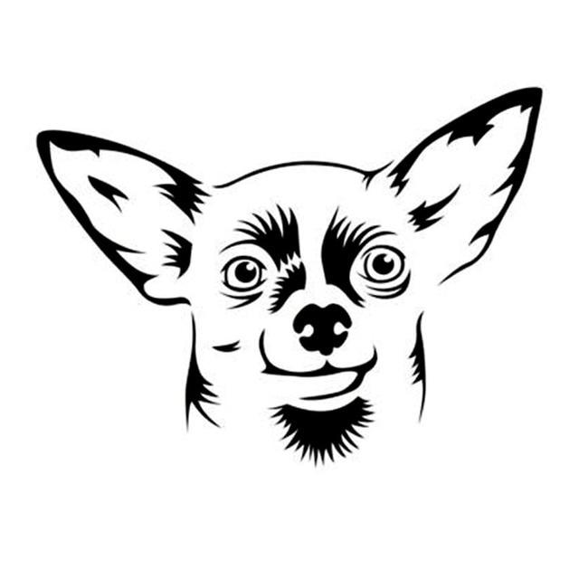 13 2 10 Cm Chihuahua Petit Chien Mignon Dessin Anime Voiture Fenetre
