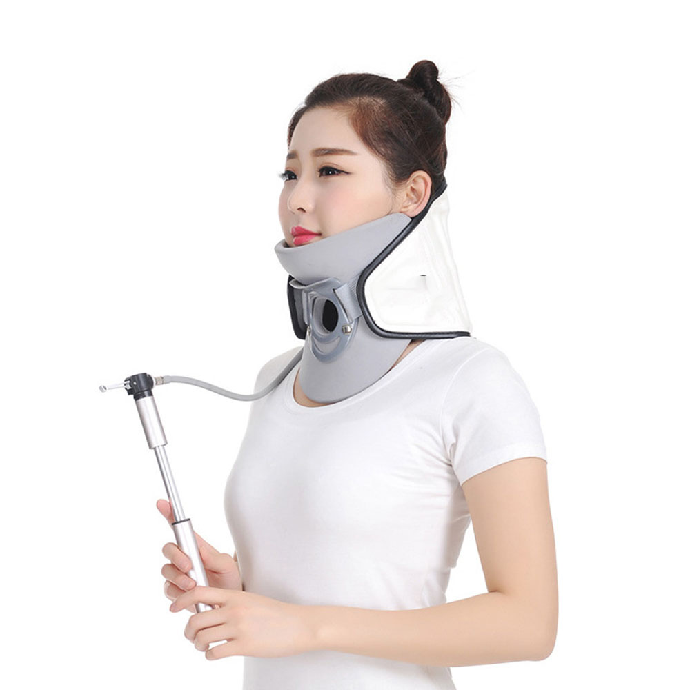 Neck Cervical Vertebra Tractor Neck Braces Supports Pain Relief Portable Inflatable Cervical Traction Device Home Use 2 colors