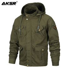 AKSR  Men Jacket Streetwear Windbreakers Chamarras Para Hombre Military Fabric Comfortable Soft, Breathable and Flexible