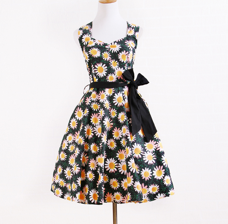 8d88d7afb75 Free Shipping Stores Online Women s Cute Sexy Yellow Print Designer  Boutique USA Sizes Rockabilly Dresses for Wedding Party-in Dresses from Women s  Clothing ...