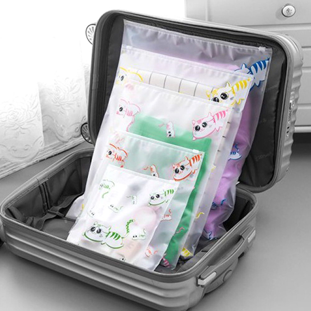 Cartoon Cat Portable Storage Bags Travel Accessories Luggage Partition Storage Bags For Clothes And Underwear Packing Organizer