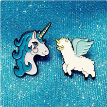 Fashion accessories childhood Cartoon animal unicorn brooch brooch garment accessories deserve to act the role of popular brooch цена 2017