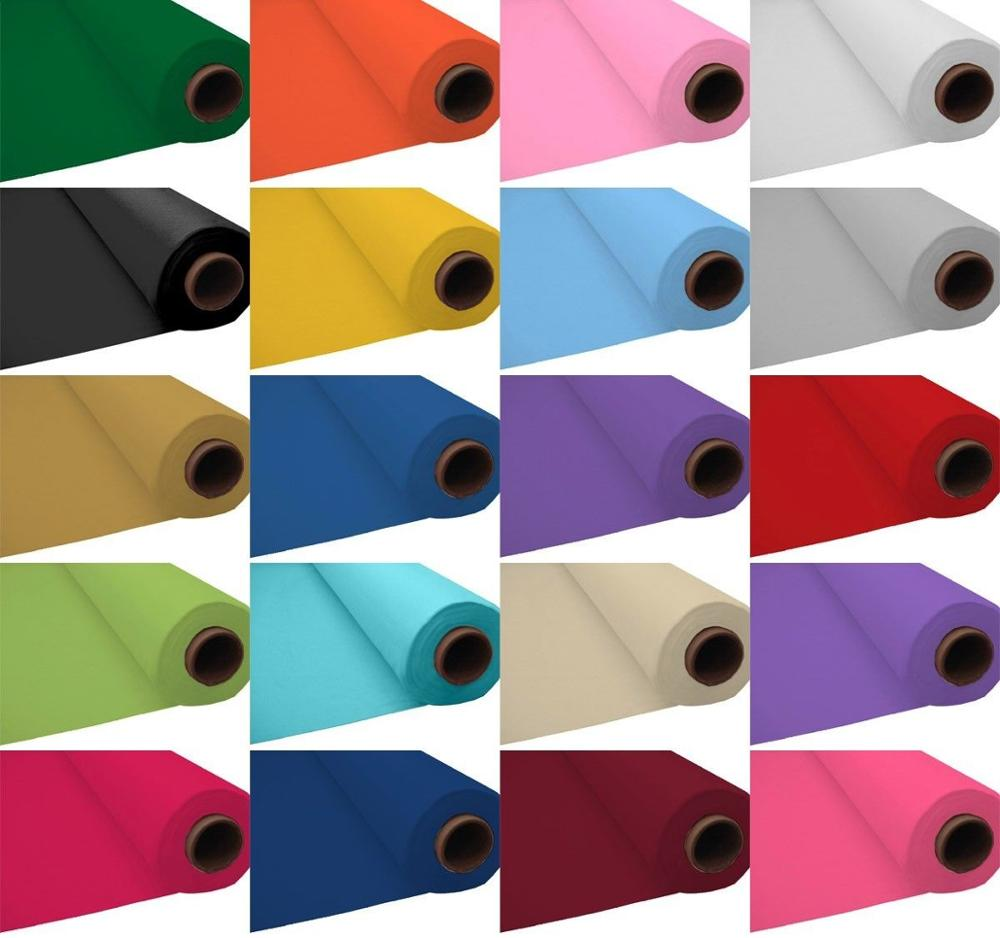 100ft Environmental Plastic Party Table DIY Self-cut 100ft Plastic Banquet Roll Party Catering Table Cover Cloth Tableware