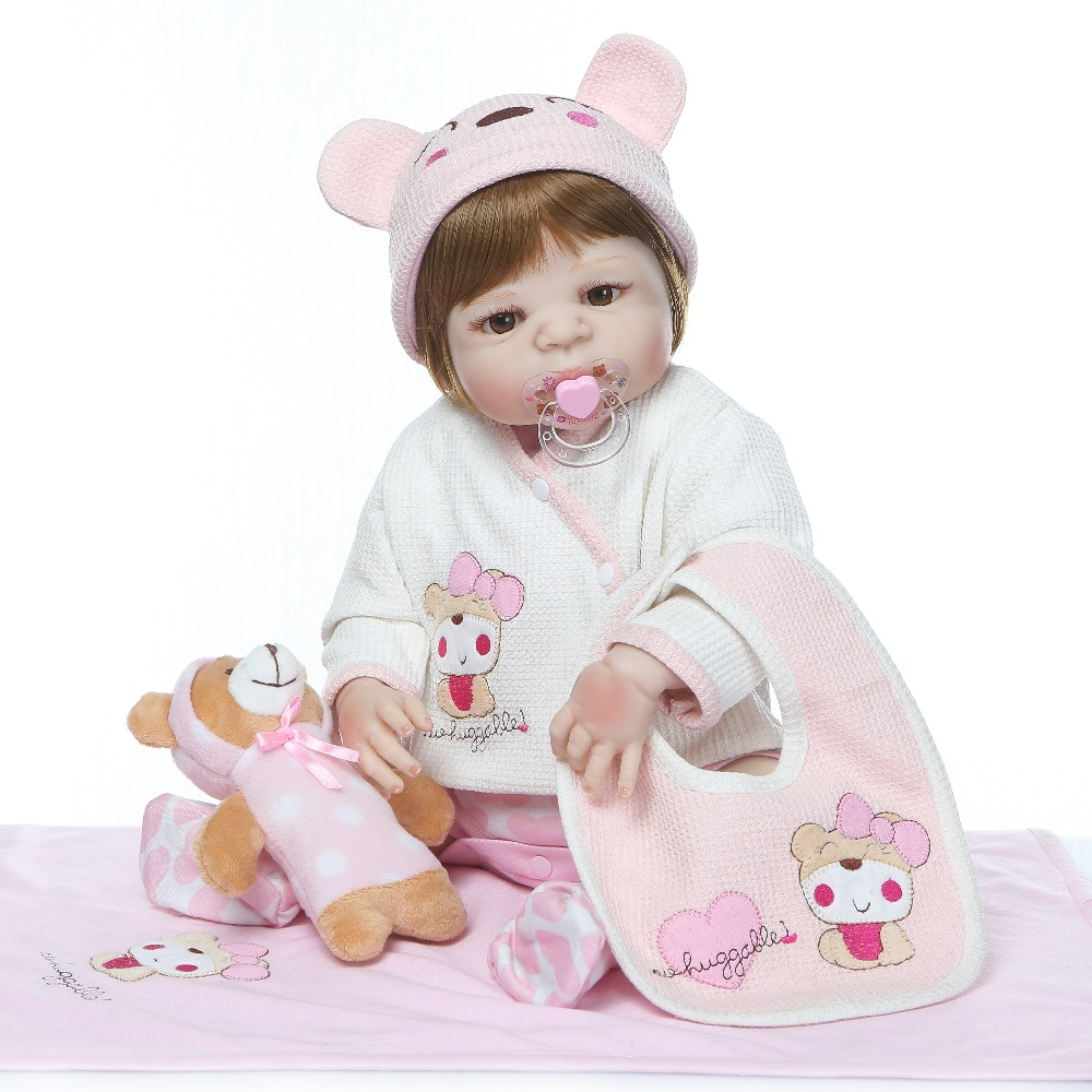 57cm Full Body Silicone Reborn Baby Doll 23inch bebe Alive Girl Doll Children Gifts Kid Best collection dolls bathe Playmate57cm Full Body Silicone Reborn Baby Doll 23inch bebe Alive Girl Doll Children Gifts Kid Best collection dolls bathe Playmate