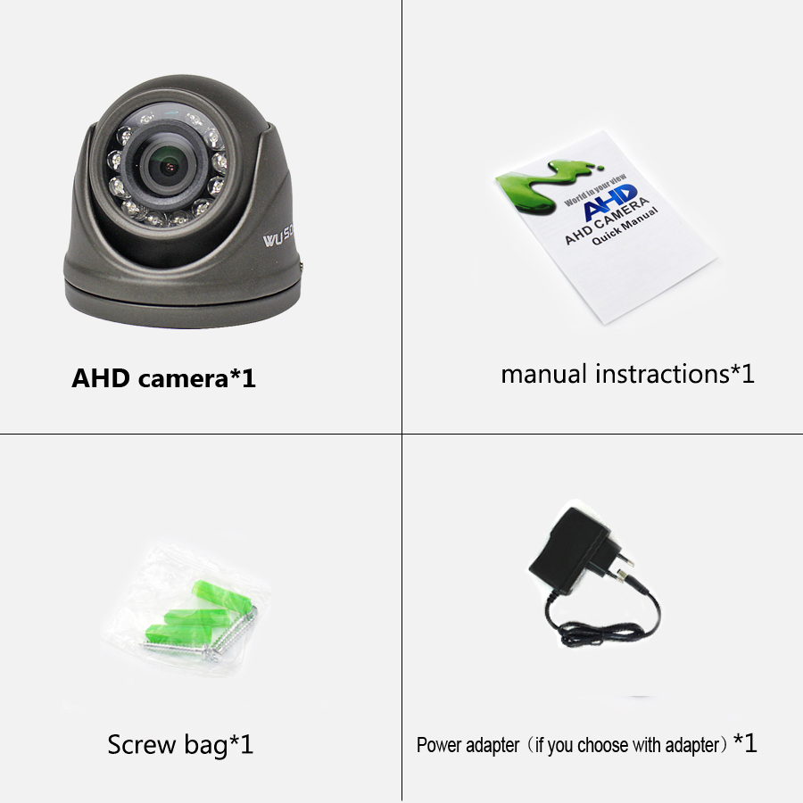 Image 5 - AHD 1080P Camera Mini Dome 2MP Full HD Metal Case Indoor/Outdoor Waterproof IR Cut filter Night Vision For CCTV Security Monitor-in Surveillance Cameras from Security & Protection
