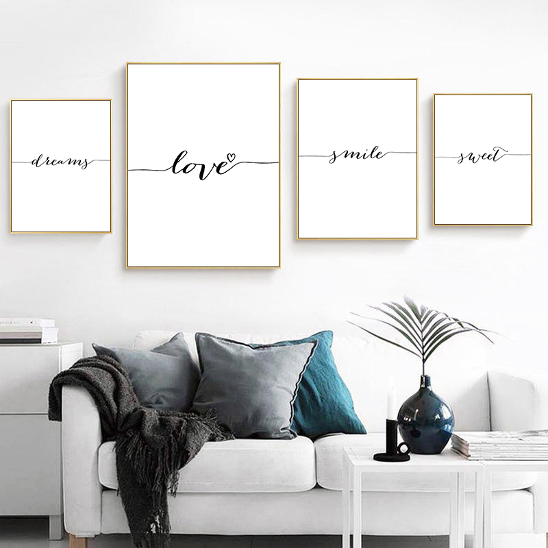 Quotes Canvas Poster Decor Decorative-Picture Painting Wall-Art Smile-Dream Bedroom Prints