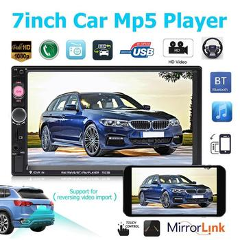 Double Ingot Car 7 Inch Bluetooth Call MP5 Player Reversing Image Apple Interconnect Touch Resistance Screen Universal image