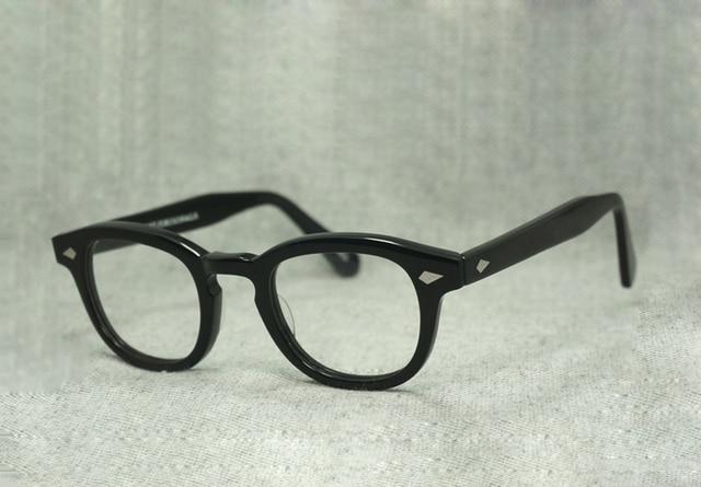 Мода Джонни Депп Стеклянная рамка hommes femmes lunettes Ретро Vintage lunettes optiques myopes monture де люнеты Óculos де грау