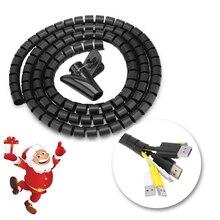 16/22/28mm gestion Flexible spirale Tube câble organisateur fil enroulement cordon protecteur fil maison bureau stockage tuyau câble enrouleur