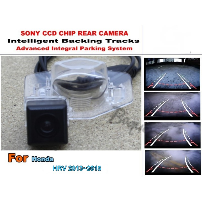Car Intelligent Parking Tracks Camera / For Honda HR-V HRV 2013 ~ 2016 HD Back up Reverse Camera / Rear View Camera for dacia duster 2010 2014 car intelligent parking tracks camera hd back up reverse camera rear view camera