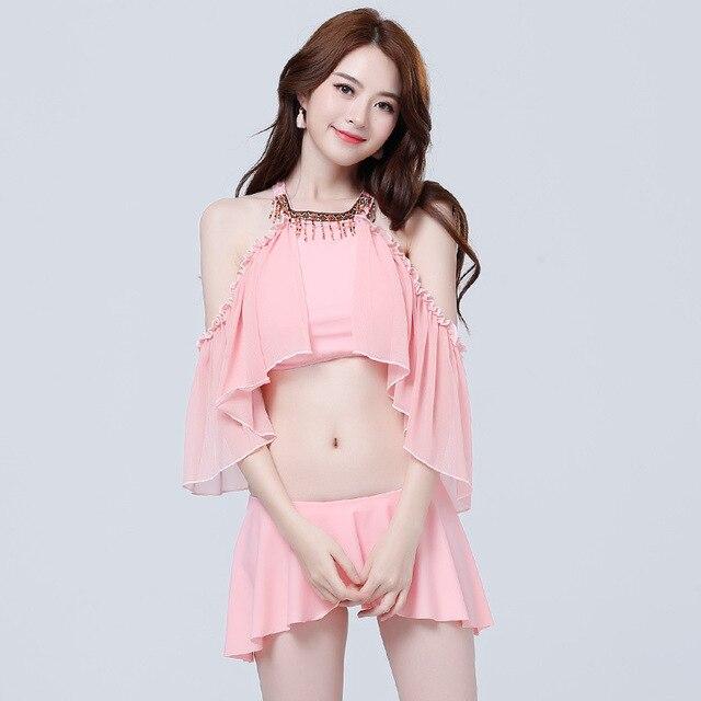 f1aebc91ad1 Strapless Swimsuits for Pregnant Women Chiffon Maternity Swimwear Fashion  Bikini Set Summer Beach Wear Maternity Swimsuits YY24