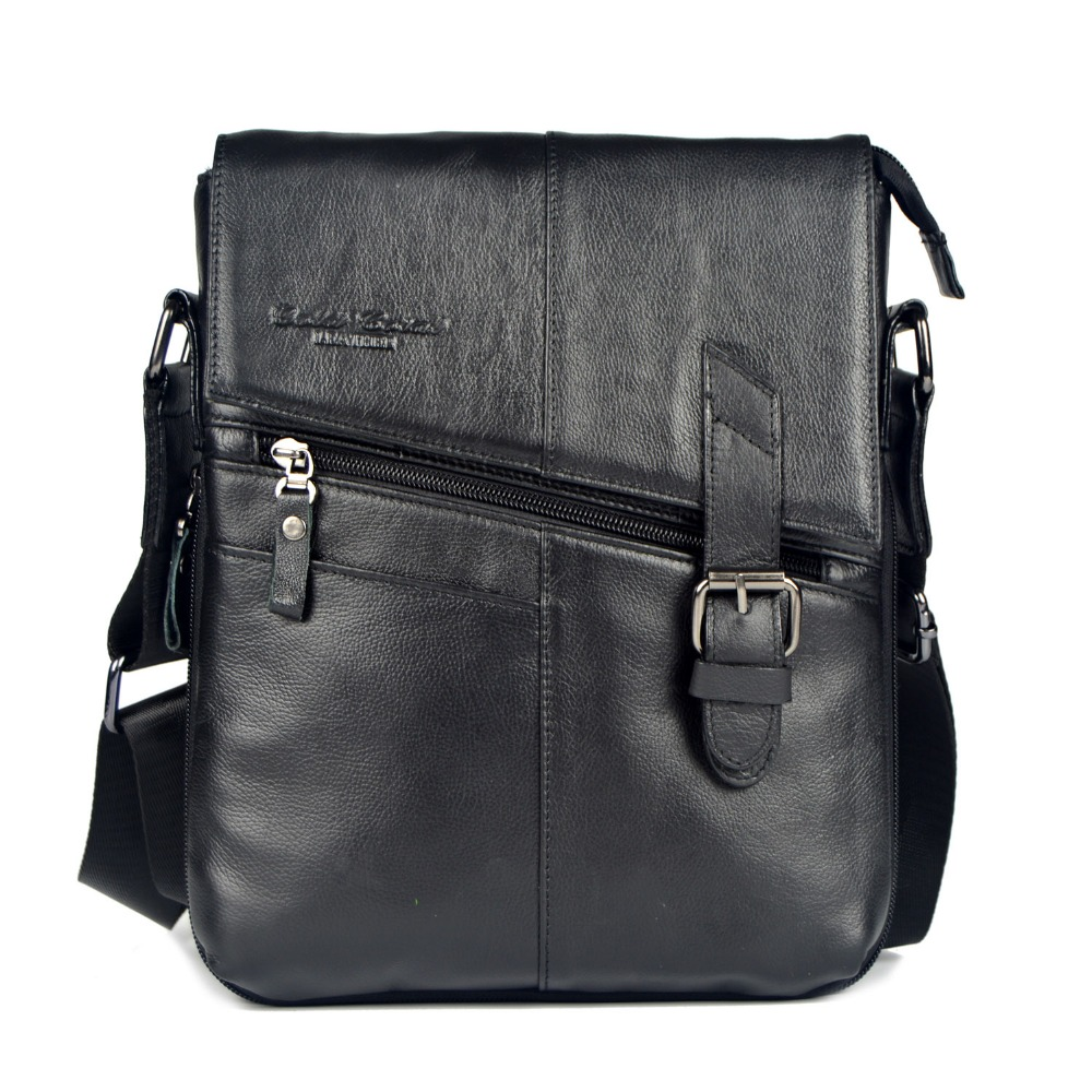 ФОТО 2015 gold coral genuine leather messenger bags for men fashion men shoulder bags real cowhide male business crossbody bag